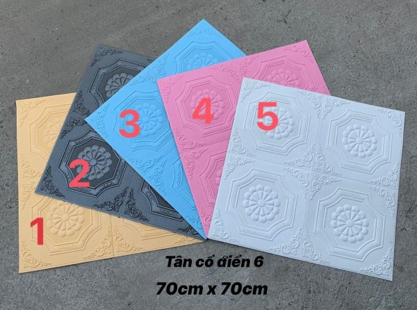 Xốp Dán Tường Hoa Văn 3D H24