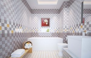 Cửa hàng bán giấy dán tường phòng tắm
